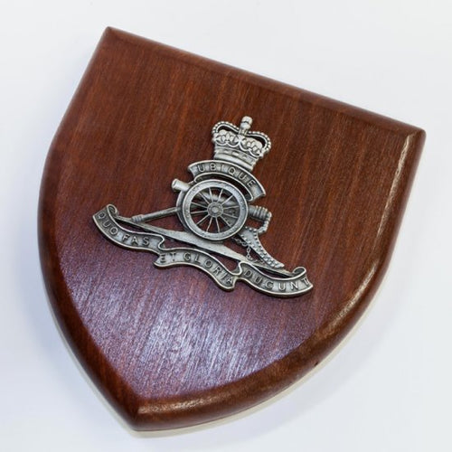 Royal Australian Artillery Plaque Large (RAA) - Buckingham Pewter