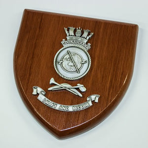 HMAS Coonawarra Plaque Large - Buckingham Pewter