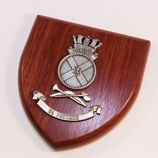 HMAS Stirling Plaque Large - Buckingham Pewter