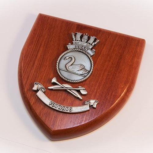HMAS Swan Plaque Large - Buckingham Pewter