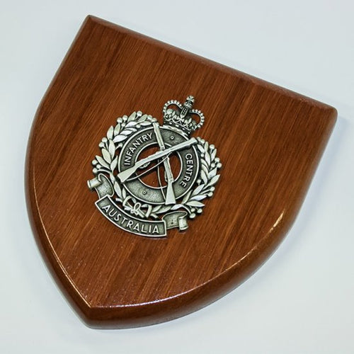 The Royal Australian Infantry Corps Plaque Large (Infantry Centre) (RA Inf) - Buckingham Pewter
