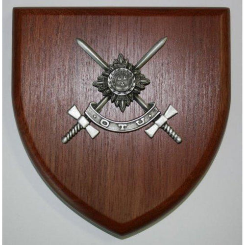 OTU Officer Training Unit Plaque Large - Buckingham Pewter