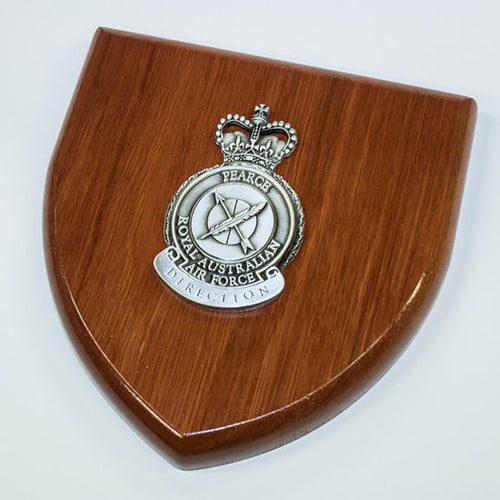 Pearce Airforce HQ Plaque Large-Buckingham Pewter
