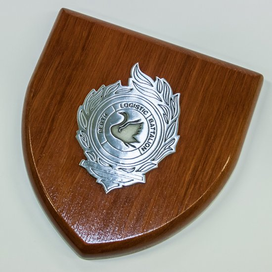 Perth Logistic Battalion Plaque Large - Buckingham Pewter