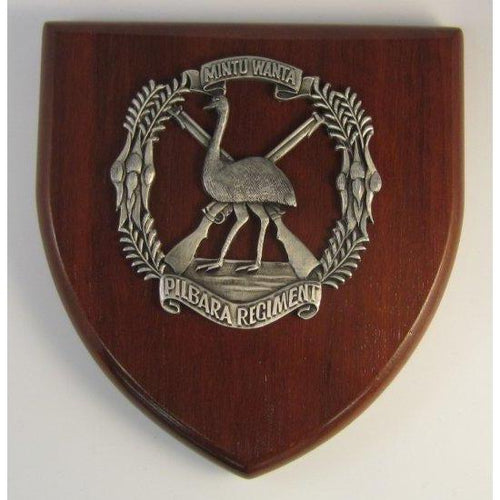 Pilbara Regiment Plaque Large - Buckingham Pewter