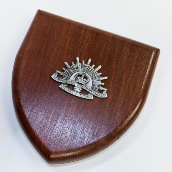 Australian Commonwealth Military Forces Plaque Large - Buckingham Pewter