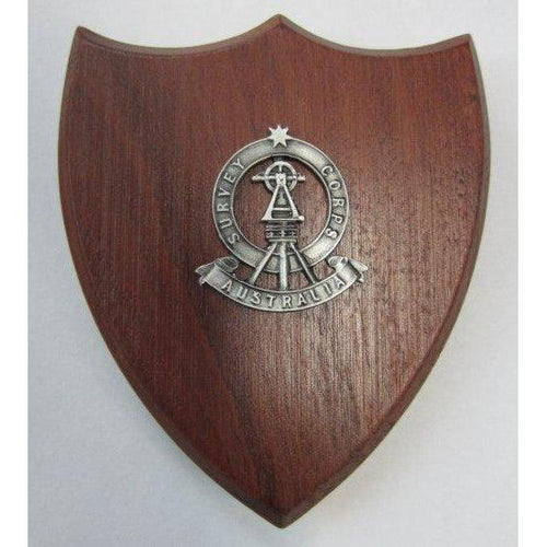 The Royal Australian Survey Corps Plaque Small (Theodolite) (RA Svy) - Buckingham Pewter