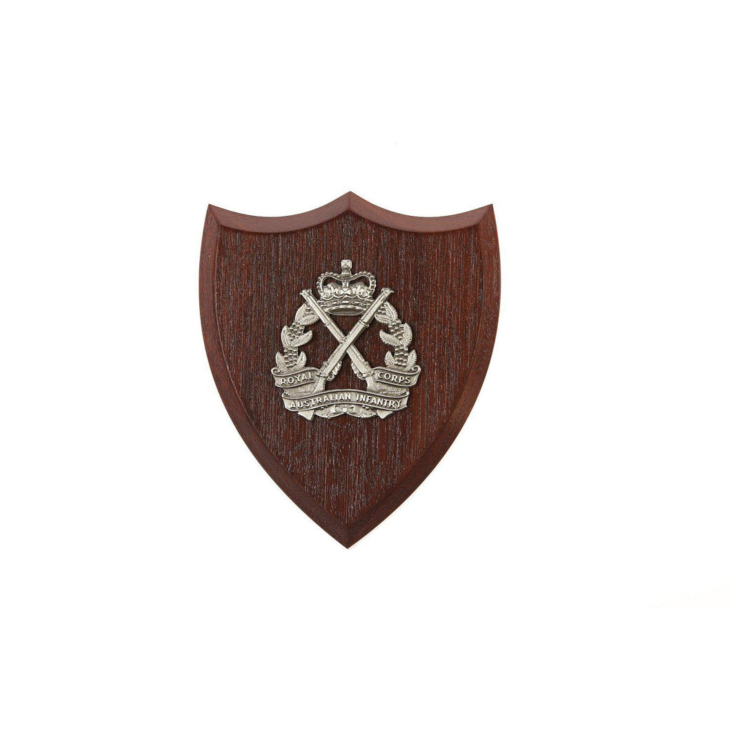 The Royal Australian Infantry Corps Plaque Small (RA Inf) - Buckingham Pewter
