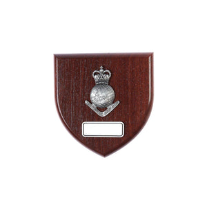 The Royal Australian Survey Corps Plaque Large (Globe) (RA Svy) - Buckingham Pewter