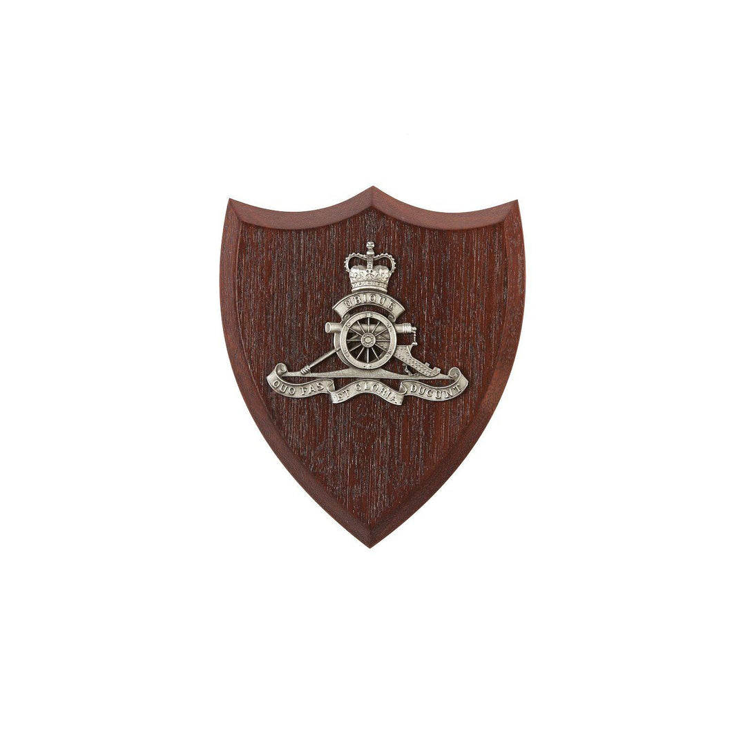 Royal Australian Artillery Plaque Small (RAA) - Buckingham Pewter