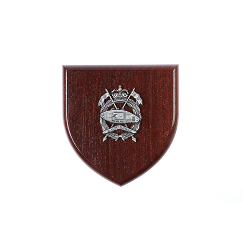 The Royal Australian Armoured Corps Plaque Large (Australia) (RAAC) - Buckingham Pewter