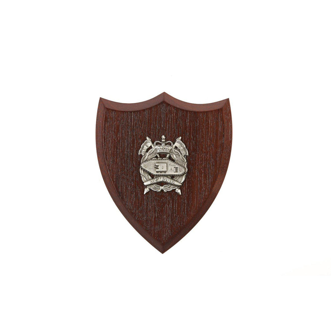 The Royal Australian Armoured Corps Plaque Small (RAAC) - Buckingham Pewter