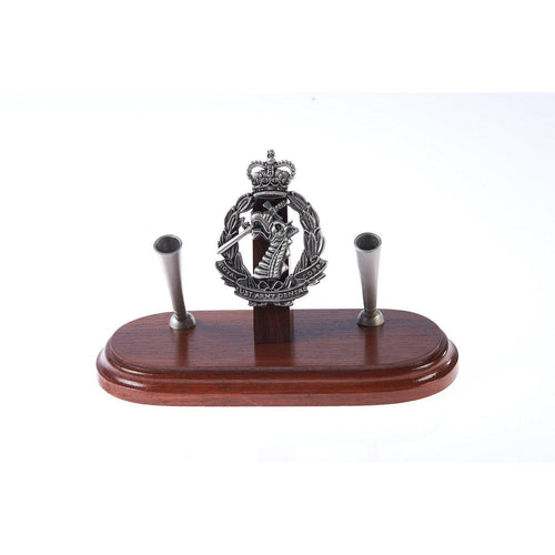 The Royal Australian Army Dental Corps Double Desk Set & Pen Holder (RAADC)-Buckingham Pewter
