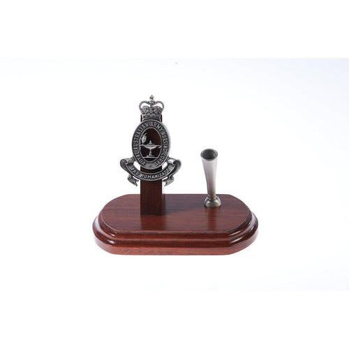 The Royal Australian Army Nursing Corps Single Desk Set & Pen Holder (RAANC)-Buckingham Pewter