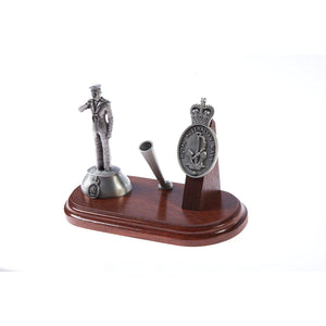 Royal Australian Navy Desk Set with Pen Holder & Leading Seaman A009 (RAN) - Buckingham Pewter