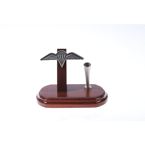The Royal Australian Regiment Pewter Single Desk Set & Pen Holder Wings (RAR)-Buckingham Pewter