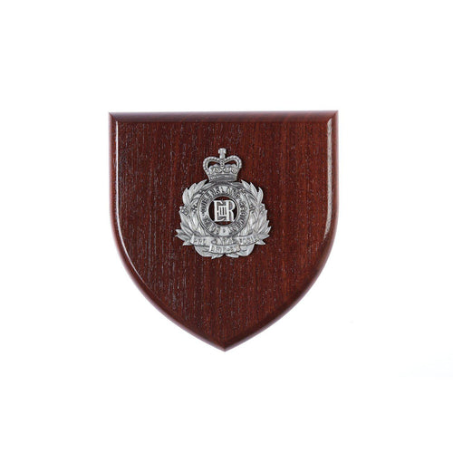 The Royal Queensland Regiment Plaque Large (RQR) - Buckingham Pewter