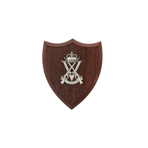 The Royal Victoria Regiment Plaque Small (RVR)-Buckingham Pewter