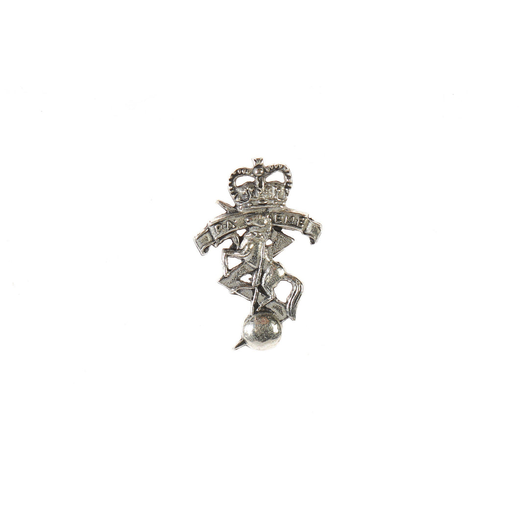 The Royal Corps of Australian Electrical and Mechanical Engineers Pewter Lapel Pin Electrical & Mechanical (RAEME) - Buckingham Pewter