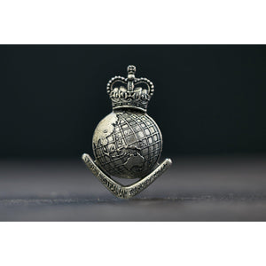The Royal Australian Survey Corps Lapel Pin (Globe) (RA Svy) - Buckingham Pewter