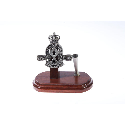 The Royal Military College, Duntroon, Single Desk Set & Pen Holder-Buckingham Pewter