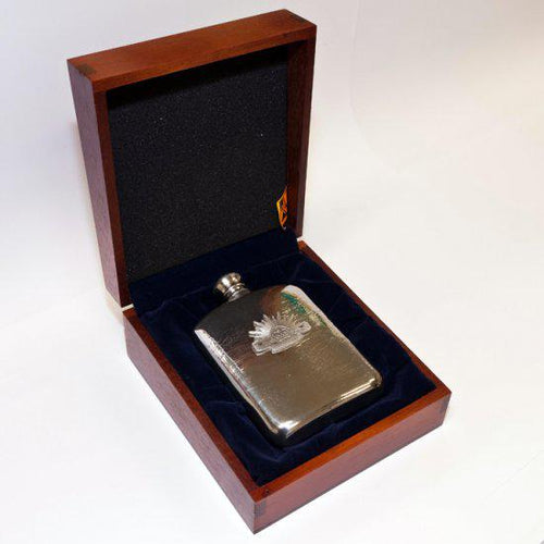 The Australian Rising Sun 140 ml Hip Flask in Box - Buckingham Pewter