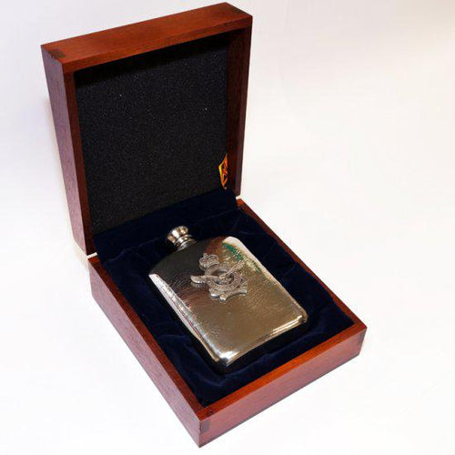 The Royal Australian Air Force 140 ml Hip Flask in Box-Buckingham Pewter