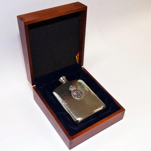 The Royal Australian Navy 140 ml Hip Flask in Box - Buckingham Pewter