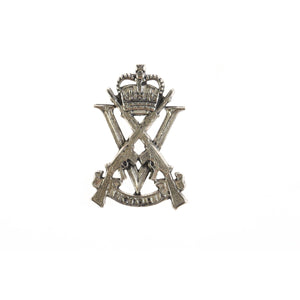 The Royal Victoria Regiment Pewter Lapel Pin (RVR) - Buckingham Pewter