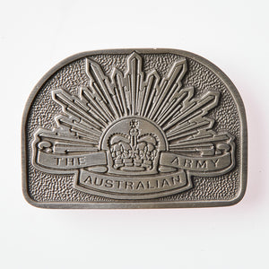 The Australian Rising Sun Pewter Belt Buckle - Buckingham Pewter