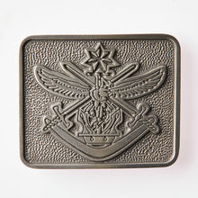 Load image into Gallery viewer, Tri Service Pewter Belt Buckle