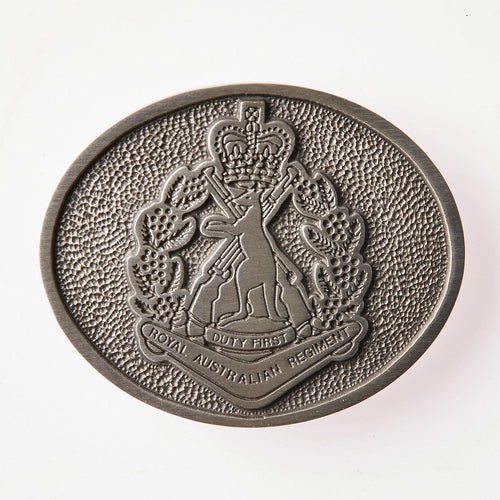 The Royal Australian Regiment Pewter Belt Buckle (RAR) - Buckingham Pewter