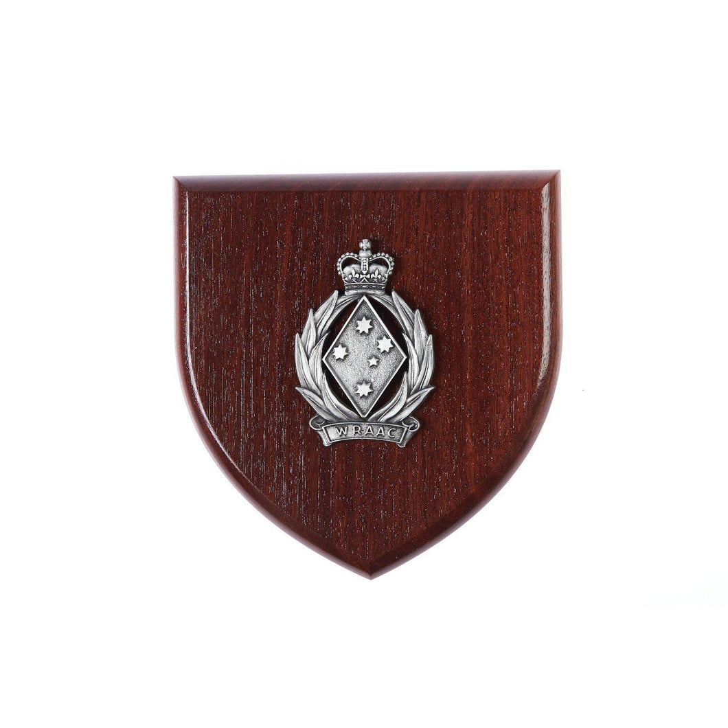 The Women's Royal Australian Army Corps Plaque Large (WRAAC) - Buckingham Pewter