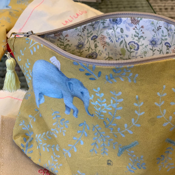 Winged Elephant Zipper Pouch