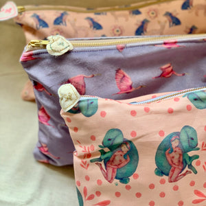Lila Freedom Zipper Pouch