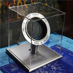 LED Avengers 1:1 Scale Iron Man Arc Reactor Core Tony Stark Heart Model With Led Light Figure Gift DIY Need To Assemble MK1 Reac