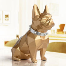 Load image into Gallery viewer, European Style Geometry French Bulldog Resin Statue Money Box Creative Home Decor Coin Storage Box Child Gift Piggy Bank WX3