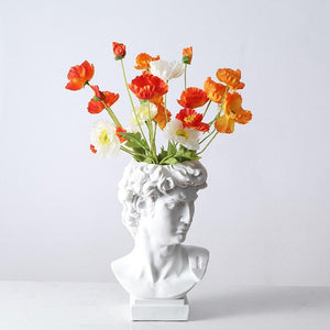 [MGT] Michelangelo Buonarroti David Head Portraits Resin Imitation Gypsum Vase Living Room Plants Flower Pot Ornaments Craftwork
