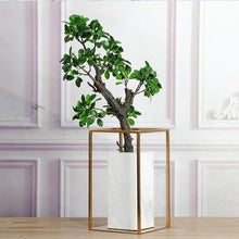 Load image into Gallery viewer, Natural Stone Marble Vase Gold/metal Frame Table Top Luxury Vase Sample Room Luxury Design Vase Flower Pots