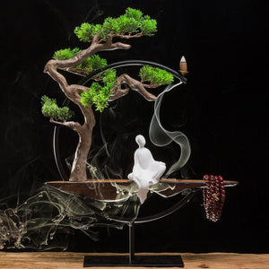 Chinese Zen Home Decoration Ornaments Fragrant Crafts Creative Fog Pine - Buddha Statue Sculpture Living Room Home Decorations