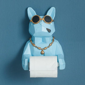 3D Animal Dog Statue Sculpture Wall Decor Tissue Holder Home Decoration Accessories Bathroom Hang Figurine Roll Paper Tissue Box