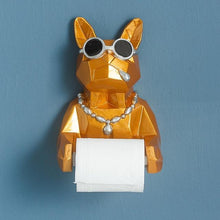 Load image into Gallery viewer, 3D Animal Dog Statue Sculpture Wall Decor Tissue Holder Home Decoration Accessories Bathroom Hang Figurine Roll Paper Tissue Box