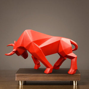 Bull Statue Resin Bulls Sculpture nordic decoration home decor Statues Abstract figurine Home Decoration Modern accessories