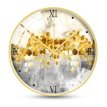 Load image into Gallery viewer, Large Nordic Modern Design Wall Clock Decor Minimalist Metal Gold Wall Clock Living Room Creative Wand Klok Home Watch JJ60WC
