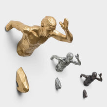 Load image into Gallery viewer, Creative Industrial Style Running Sculpture Resin Living Room Background Wall Decoration Hanging Run Figure Statue Sports Man