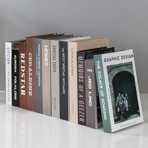 12-200 Creative Modeling Adornment Props Modern Fake Books Simulation Books Living Room TV Cabinet Books Furnishing Accessories