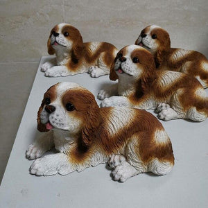 resin statues dog