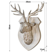 Load image into Gallery viewer, Original European Animal Deer Head Antelope Hanging Stereo Creative Living Room Mural Wall Background Decoration Resin Craft