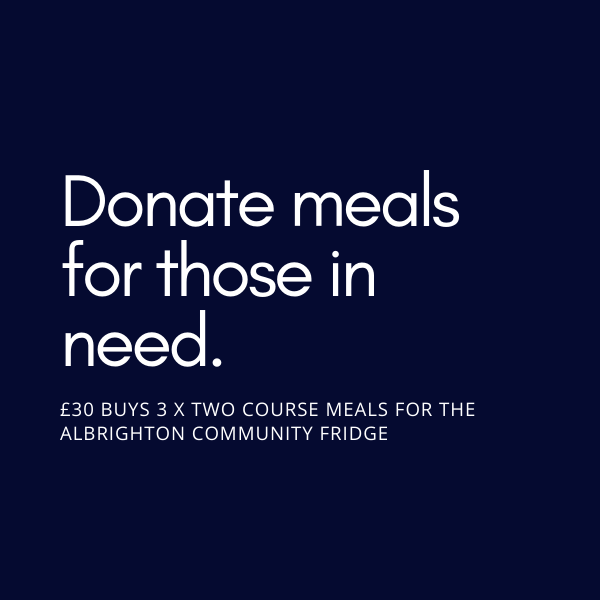 Donate a two course meal to Albrighton Community Fridge