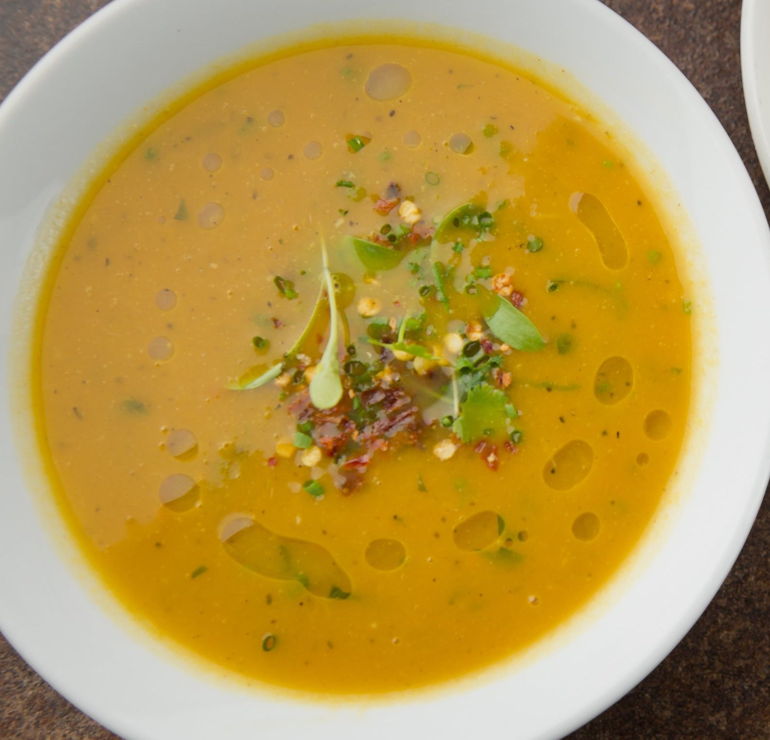 Spiced winter vegetable soup (VG)